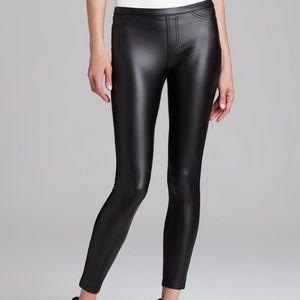 Hue   Black Faux Leatherette Leggings Pants